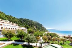 The Iti Louis Grand Hotel is an all-inclusive 4 plus-star hotel on a pristine Corfu beach. One of the gems of the properties of Louis Hotels. Corfu Hotels, Corfu Beaches, Cyprus Hotels, Greece Hotels, Corfu Greece, Mykonos Greece, Athens Greece, Santorini