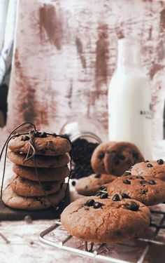 Dairy Free Chocolate Chips, Chocolate Chip Cookies, Food Photography, Desserts, Tailgate Desserts, Deserts, Postres, Dessert, Chocolate Chip Brownies