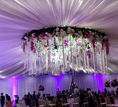 Floral wedding chandelier Flower Chandelier, Perfect Love, Wedding Receptions, Floral Wedding, Ceiling Lights, Flowers, Floral Chandelier, Outdoor Ceiling Lights, Royal Icing Flowers