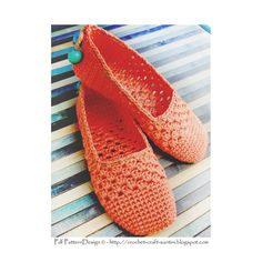 CORAL LACE SLIPPERS  **This listing is for a CROCHET PATTERN. You are not buying a finished product! INSTANT DOWNLOAD PDF**  This listing is for the basic slippers only; no in- or out-soles. One-piece, toe-up!  *NOTE*: This pattern is almost similar to the White Lace Espadrilles; Purchase only one of them! *Difference*: Crochet-Soles attached to the white slippers, Cord-Soles to the Coral slippers, plus different lace-and embellishing balls on the heels. See listing and pics of White Lace…