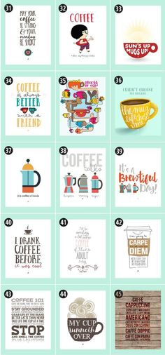 180+ Coffee Free Printables: The Ultimate Guide • Little Gold Pixel • Find the motherlode of curated coffee printables here. Click through to see more! #coffeecoffeecoffee