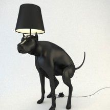 GOOD BOY LAMP: In all honesty, I can't say I exactly LOVE this lamp, but I have to admit it is rather eye-catching. Right now I'm trying to picture one on either end of my living room sofa. What do you think? Too much?