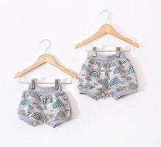 Organic Knit Rainbow Shorts sizes 3 months-8/9 - 12 months