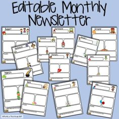 FREE editable monthly newsletter