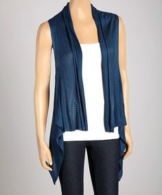 Another great find on #zulily! Teal Drape Vest #zulilyfinds