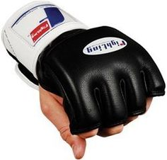 """Fighting Sports MMA Competition Gloves, Black, Regular by Fighting Sports. $52.99. Take your MMA fighting and grappling competition gloves to the highest level with Fighting Sports. Made of carefully selected hides of full grain leather with 3/4"""" of high density and low density sandwich foams to form the elite MMA punchers gloves. Triple reinforced fingers with open palm allows superior offensive and defensive maneuvers and tactics. Complete with wraparound leather wr..."""