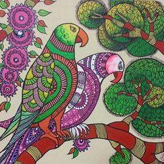 Madhubani painting Tanjore Painting, Madhubani Painting, Kalamkari Painting, Mural Painting, Fabric Painting, Abstract Drawings, Pencil Drawings, Exotic Art, Madhubani Art