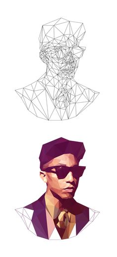 Polygonal studies, low poly pieces that I& made for multiple purposes.In this serie I& tried to apply the low poly style at many different kind of motives, from the less complex as this first bird to the very complexity as portraits. Web Design, Design Art, Shape Design, Graphic Design, Low Poly, Polygon Art, Effects Photoshop, 3d Max, Geometric Art