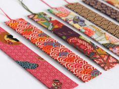 tessuto giapponese segnalibro handmade di byjanis su Etsy, €2.50