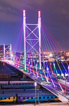 Lateral and cross bracing: Nelson Mandela Bridge - Johannesburg South Africa City Photography, Landscape Photography, Johannesburg City, Art Deco, To Infinity And Beyond, African Safari, Travel Deals, Africa Travel, World View