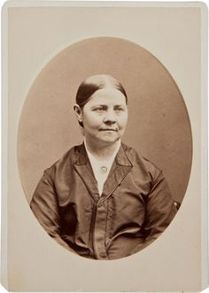 Cabinet photo of Lucy Stone, who was one of the first American women to retain her name after her marriage.  She helped form the American Woman Suffrage Association in 1869.