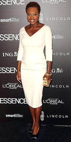 Viola Davis looking absolutely beautiful in this Victoria Beckham dress