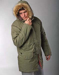 old parka coat mens - Google Search