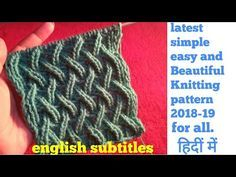 Knitting Patterns Poncho Latest,simple,and beautiful knitting pattern/ for all knitting projects in hindi english subtitles. Easy Sweater Knitting Patterns, Knitting Stitches, Knitting Designs, Free Knitting, Knitting Projects, Baby Knitting, Finger Knitting, Knitting For Beginners, Diy Crafts