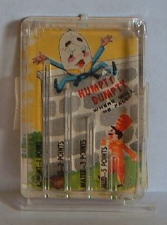 "VINTAGE 1960 CRACKER JACK ""HUMPTY DUMPTY"" PIN BALL MACHINE PRIZE GAME TOY #CRACKERJACK"