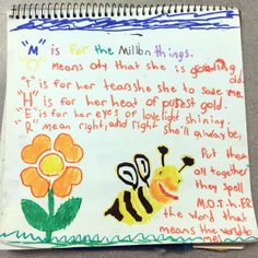 A Mother's Day page by one of my art journaling students at the Ontario school.  :]