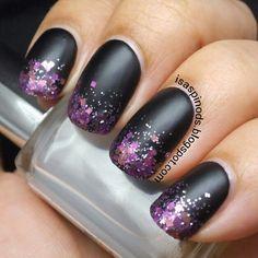 Little Fairy: #Reto31Dias2015 Día 10 - Degradado #nail #nails #nailart #ombre #degrade #glitter