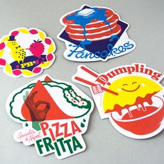 A pack of four stickers