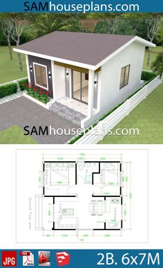 House Plans with 2 bedrooms - Sam House Plans - House Plans with 2 be. - House Plans with 2 bedrooms – Sam House Plans – House Plans with 2 bedrooms – Sam - Little House Plans, My House Plans, Bungalow House Plans, Cottage House Plans, Micro House Plans, Unique Small House Plans, House Plans With Photos, House Floor Plans, 2 Bedroom House Design
