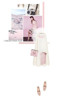 """I wear pink for hope."" by annisaamara ❤ liked on Polyvore featuring Seed Design, River Island, La Mania, Elie Saab, Prada, Natasha Accessories, Pink, hope and contestentry"