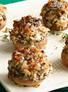 Mushroom Lovers' Stuffed Mushrooms #recipe