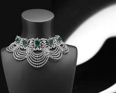 Photos of Shree Raj Mahal Jewellers, Karol Bagh, Delhi. Indian Jewelry Earrings, Indian Wedding Jewelry, Bridal Jewelry, Silver Necklaces, Fancy Jewellery, Choker Necklaces, Jewlery, Ruby And Diamond Necklace, Blue Diamond Jewelry