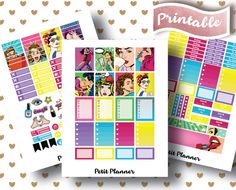 DELUXE RETRO STICKERS for use with Erin Condren by PetitPlanner