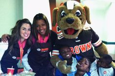 The Browns Women's Organization visited with children at the Lonnie Burten Recreation Center