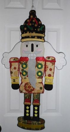 Nutcracker for your front door. Fall Danglers Sign Embroidery Designs