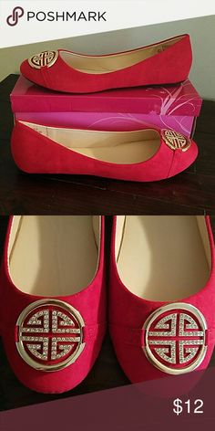 Red Flats! New with box! Size 10 New! Size 10. Shoes Flats & Loafers