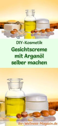 Make face cream with argan oil yourself - recipe and instructions- Gesichtscreme mit Arganöl selber machen – Rezept und Anleitung DIY-Kosmetik-Rezept: make face cream with argan oil yourself – provides more resilience and elasticity it Yourself - Oily Skin Care, Healthy Skin Care, Skin Care Tips, Skin Tips, Anti Aging Mask, Anti Aging Skin Care, Natural Skin Care, Aloe Vera Creme, Creme Anti Age