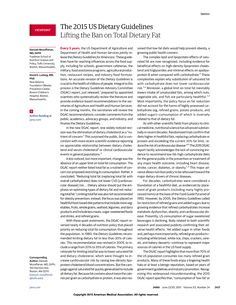 JAMA Network | JAMA | The 2015 US Dietary Guidelines: Lifting the Ban on Total Dietary Fat