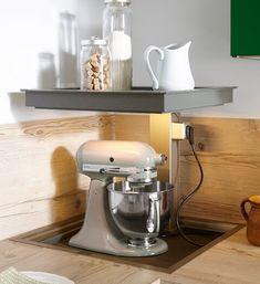 Ecklifter für Küchengeräte - von Spitzhüttl Home Company Kitchen Cabinet Organization, Kitchen Storage, Kitchen Cabinets, Kitchen Appliances, Küchen Design, House Design, Interior Design, Kitchen Board, Modern Kitchen Design