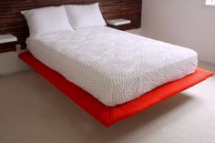 I WILL be making a super cool upholstered floating platform bed for our new master bedroom. Shelly makes it so easy! #diy