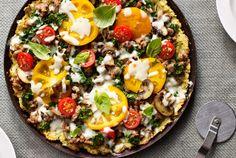 Recipe Rehab™ Turkey Sausage Pizza on a Cauliflower Crust | #JennieO #SwitchToTurkey - use crust recipe only