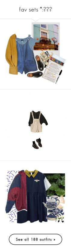 """""""fav sets *:・゚✧"""" by ibuprofeno ❤ liked on Polyvore featuring Polaroid, A.P.C., Dr. Martens, Mead, American Apparel, Sekonda, Clips, women's clothing, women and female"""