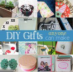 DIY gift ideas anyone can make. #DIY #gifts