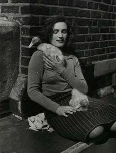 Jeune Femme et canetons ( 1930-40s).Eva Besnyö