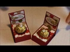 Christmas Craft Show, Christmas Catalogs, Ferrero Rocher, Candy Crafts, Paper Crafts, Chocolates, Stampin Up, Money Origami, Cookie Packaging