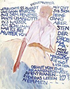 Großvater Knarre erzählt Charlotte von den Selbstmorden in ihrer Familie, aus »Leben? oder Theater?«, Blatt 4860 - © Charlotte Salomon Foundation, Amsterdam