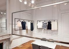 Linea Light Group products illuminate VINCE.'s Paris showroom via Frameweb.com