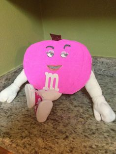A pink M made by Ashley, 5 years old • Art My Kid Made #kidart