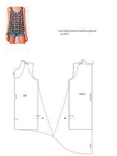 KALIP DERSLERİ: tişort kalıbı üzerine model uygulama 1