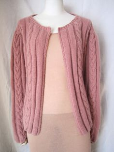 RYAN ROCHE - cable knit cardigan