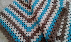 Crochet Granny Square Baby Blanket Baby Afghan by fromKikawithLove