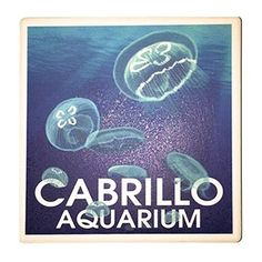 Custom designed coaster featuring moon jellies #jellyfish