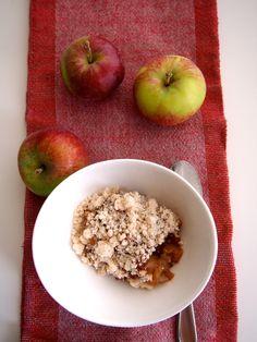 AIP Microwave apple crumble