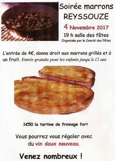 Soirée marrons grillés le 4 novembre à Reyssouze.