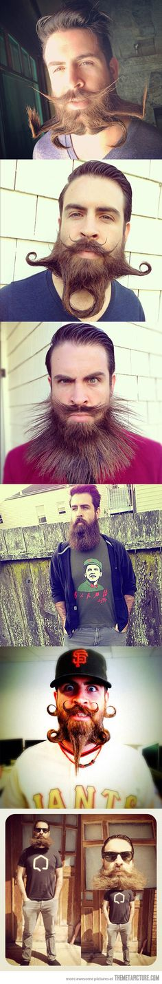 Who knew you could do this with a beard…that's some advanced hipster shiz.