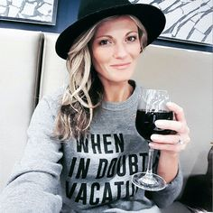 When in doubt vacay | shop this sweatshirt via @liketoknow.it (had lots of inquiries at the airport on where to buy) or use this link www.liketk.it/1NNvQ #liketkit #vacay #vino by champagneandmacaroons